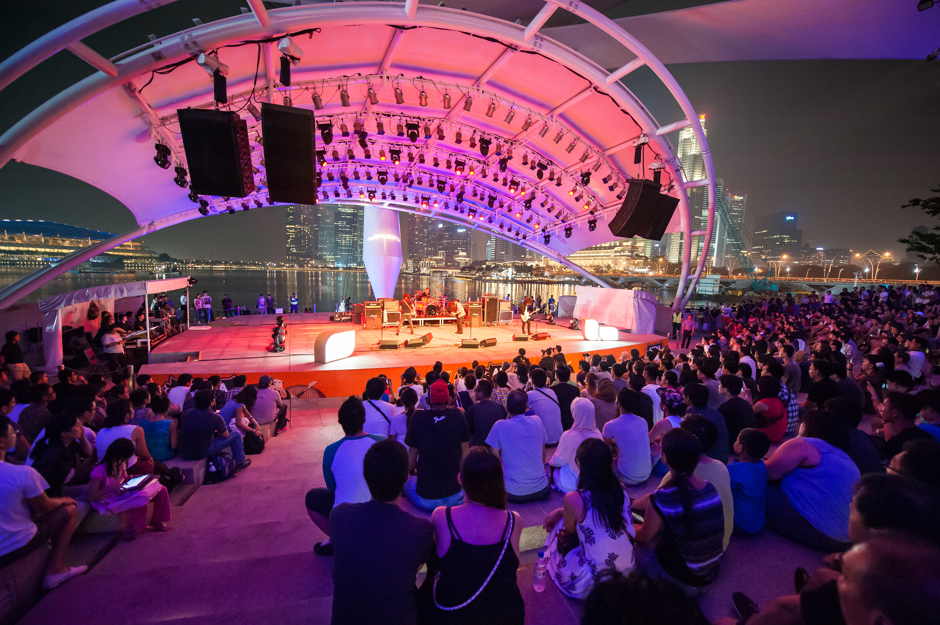 Esplanade outdoor theatre. Photo courtesy: Esplanade - Theatres on the BayEsplanade outdoor theatre.