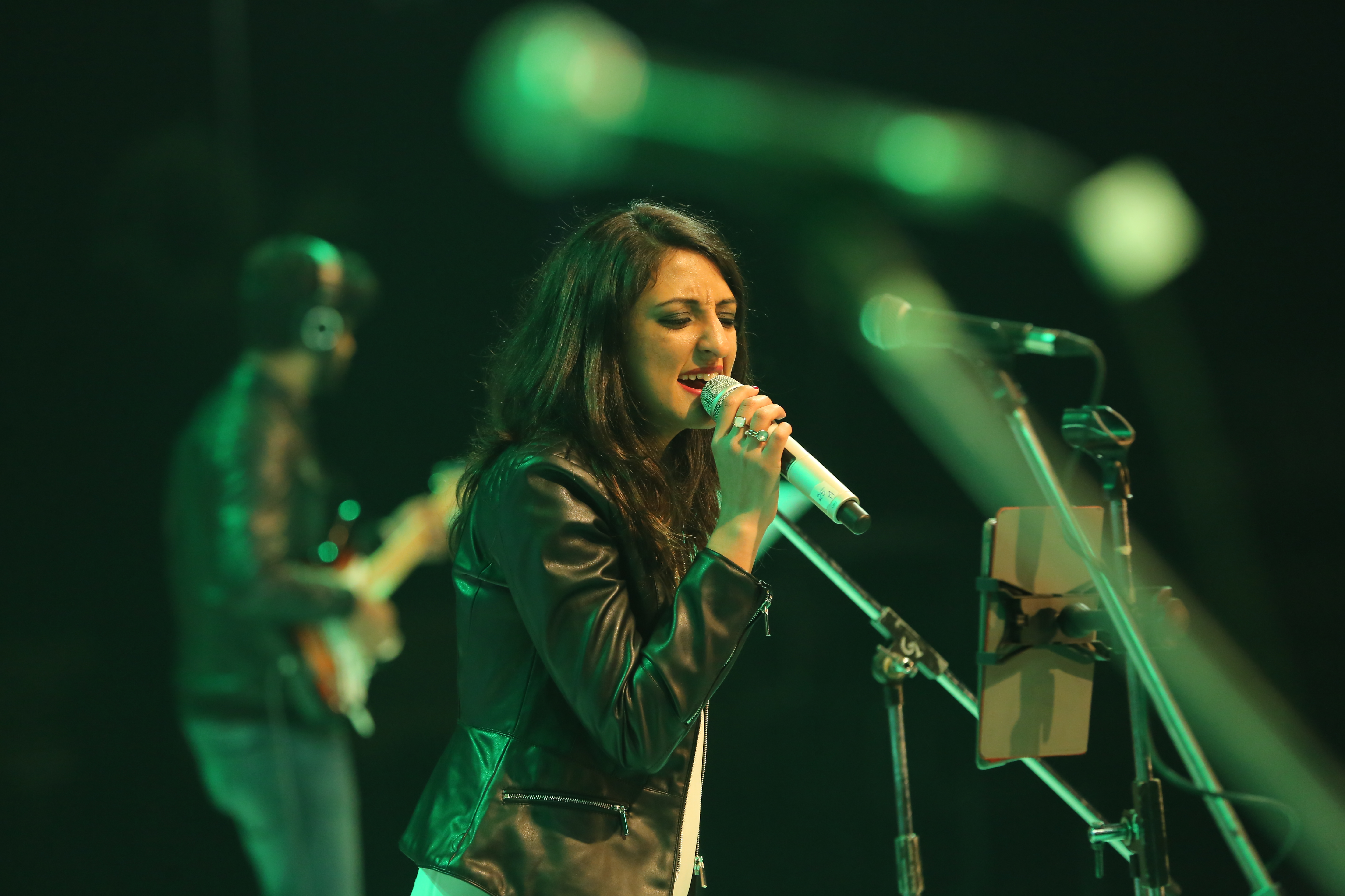 Indo-American flautist and singer Rasika Shekar during a performance.