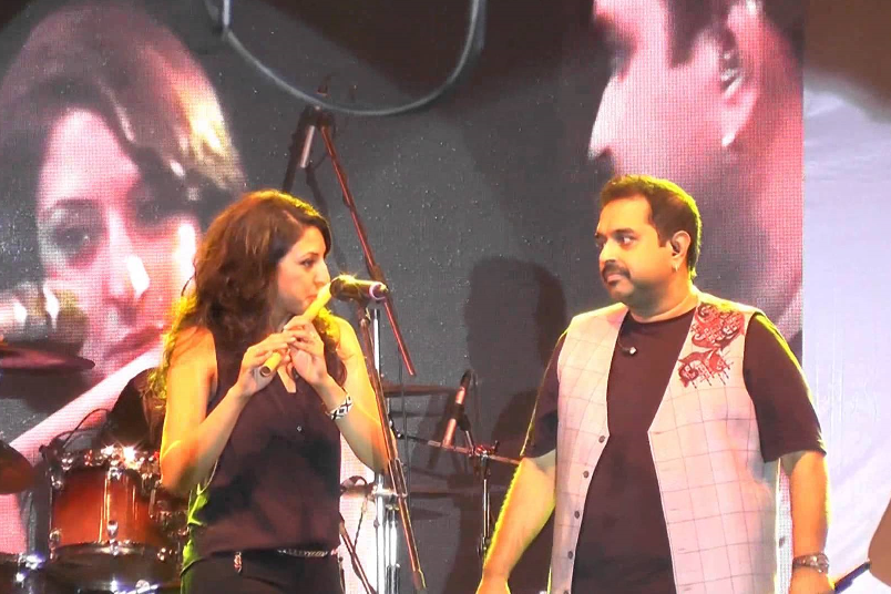 Rasika Shekar with popular Indian composer and playback singer Shankar Mahadevan.