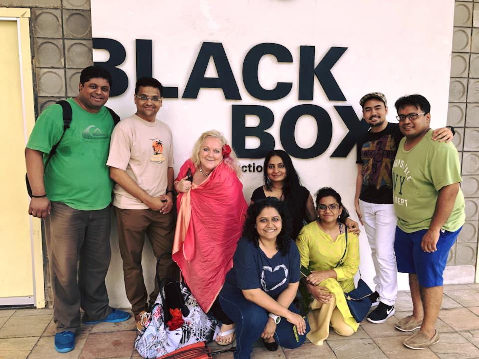 (From left) Hemang Yadav, Yogesh Tadwalkar, Susie Penrice Tyrie - Actor/Director, Rayana Pandey and Soniaponnamma Devaiah with members of the crew.