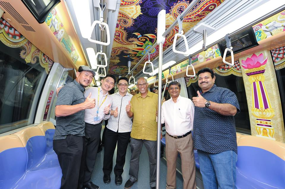 The Deepavali 2017 themed train was launched earlier this evening by Minister for the Environment and Water Resources, Mr Masagos Zulkifli.