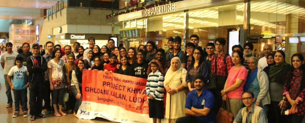 Volunteers of YSA being given warm send-off from Singapore.