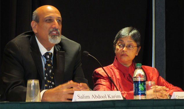 Professors Salim Abdool Karim and Quarraisha Abdool Karim