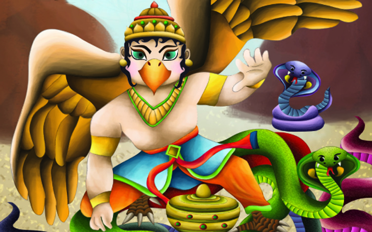 Soti Dwivid as majestic, triumphant Garudha – King of Birds