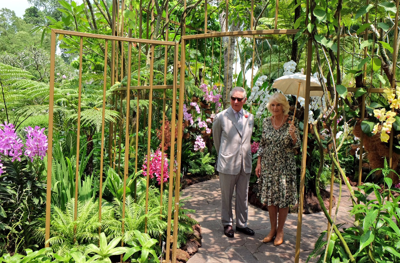 Britain's Prince Charles and his wife Duchess of Cornwall Camilla visiting Botanic Gardens in Singapore.