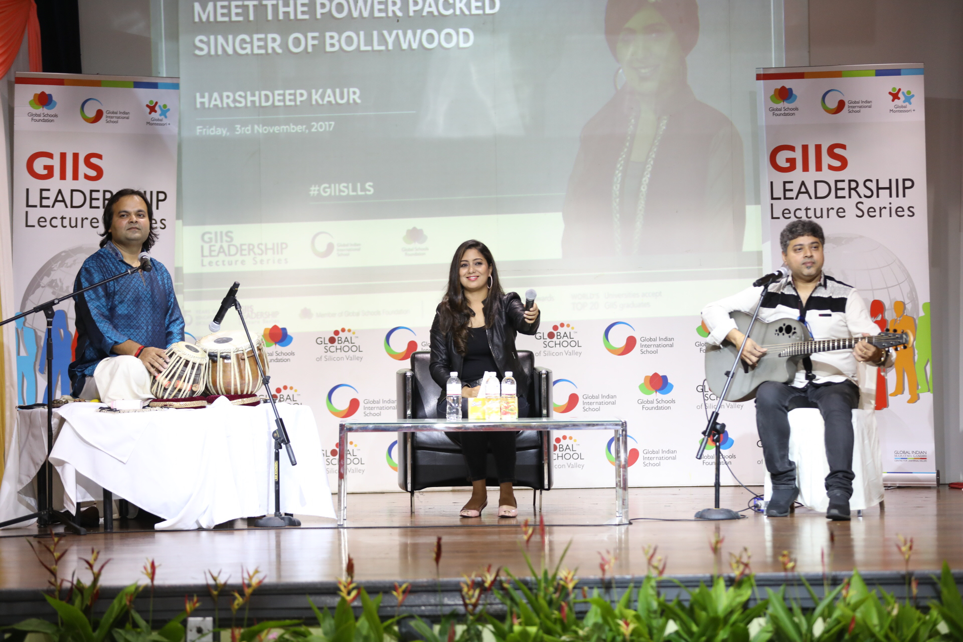 Harsheep Kaur appears to be all smiles while interacting with GIIS students. Photo courtesy: GIIS
