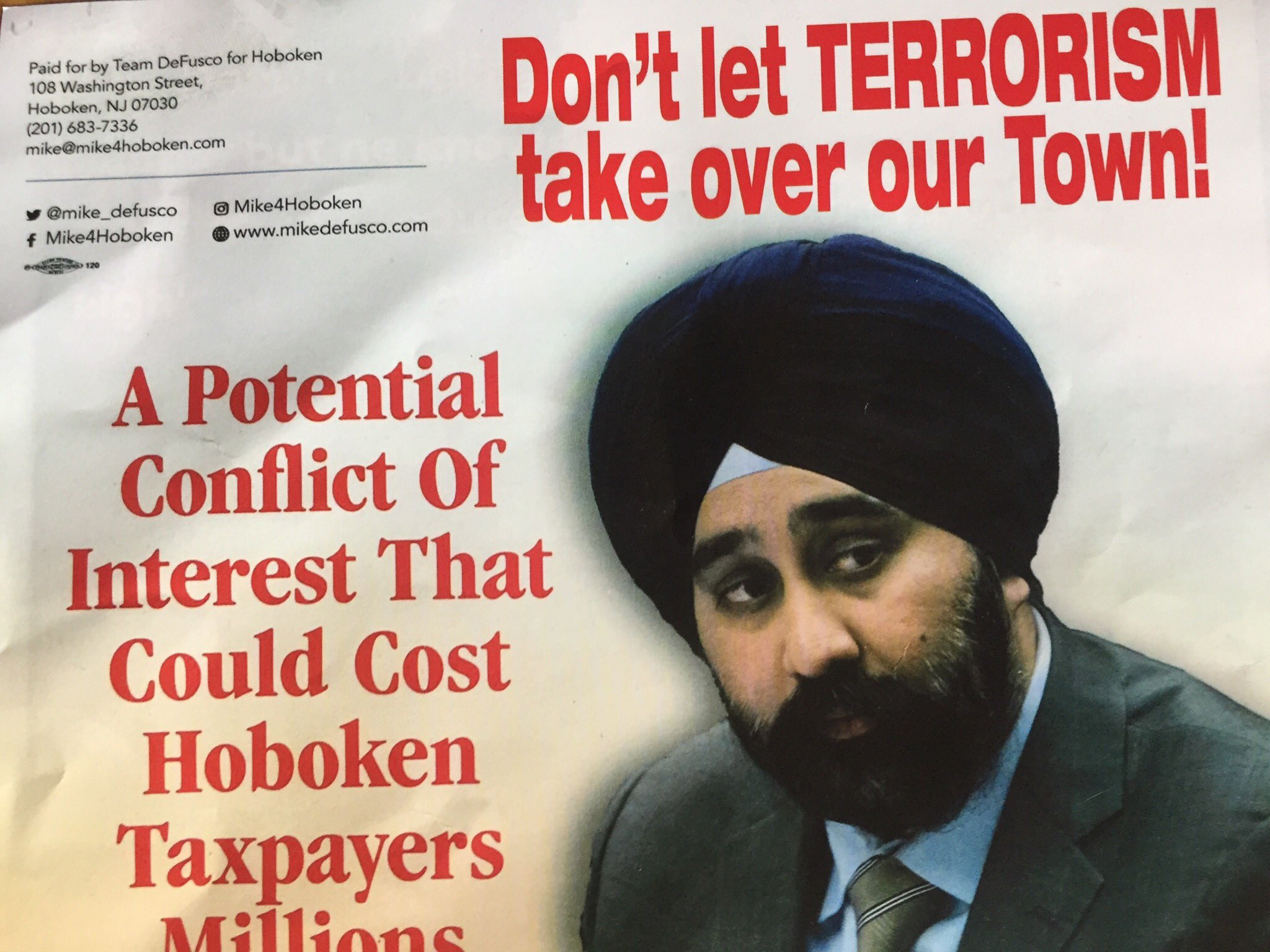 Ravi Bhalla becomes first turbaned Sikh mayor in NJ, conquered racist fliers