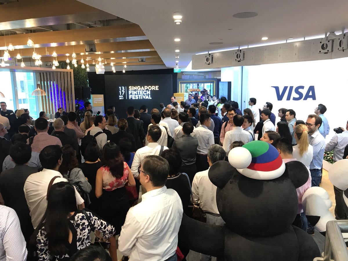 More than 25,000 people from over 100 countries are participating in the Singapore Fintech Festival.