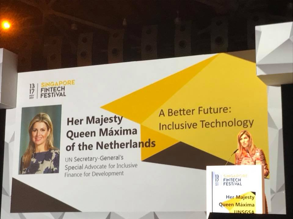 Queen Maxima stressed for addressing risks associated with FinTech.
