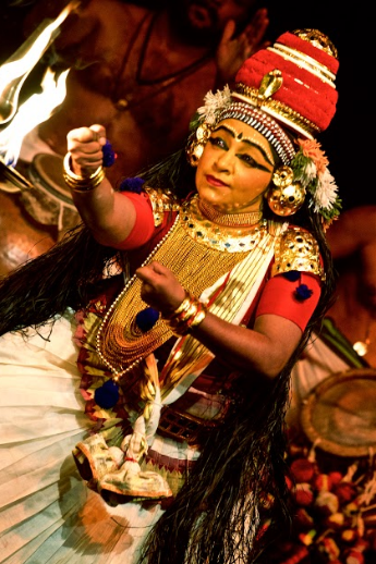 'Nangiar' is essentially a storyteller who also performs the roles of various characters in the story.