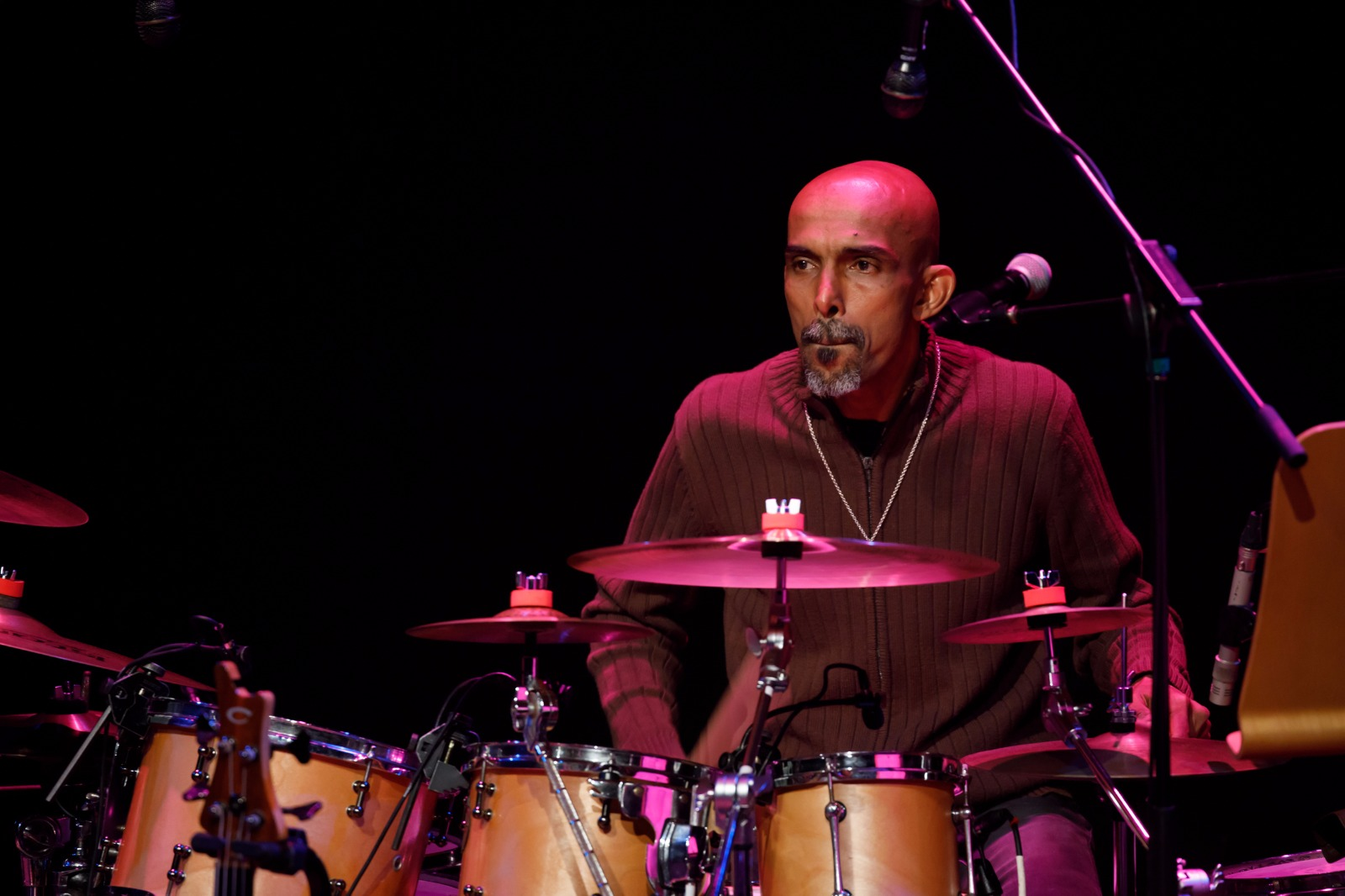 Percussionist Mohamed Noor.