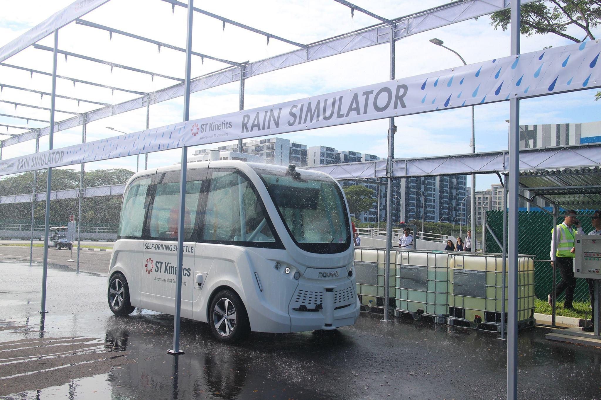 The centre also has a rain simulator