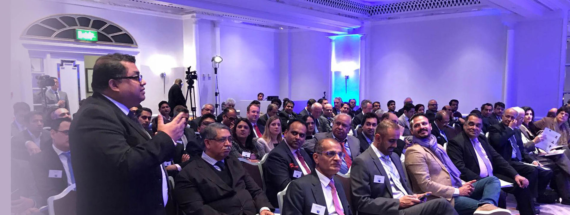 High Commissioner of India to the UK, Y K Sinha(front row, fifth from left) at a recent India Inc event.