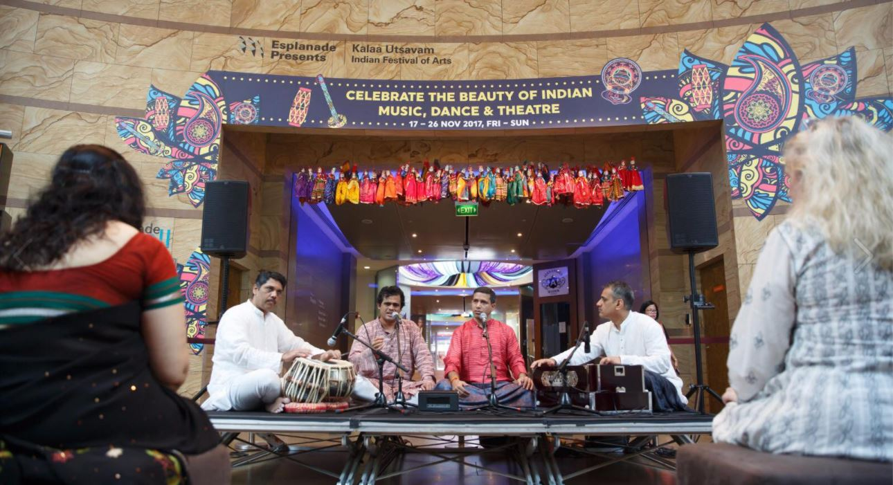 Local artists at Kalaa Utsavam 2017 Photo courtesy: Esplanade - Theatres on the Bay