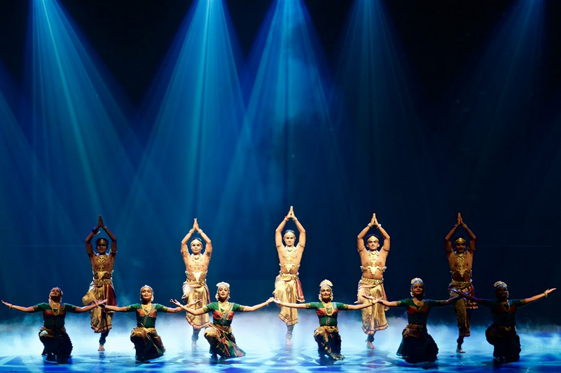 Artists and programs are booked about a year in advance. Dancers performing in the show called Anjaneyam during Kalaa Utsavam 2017 Photo: Connected to India