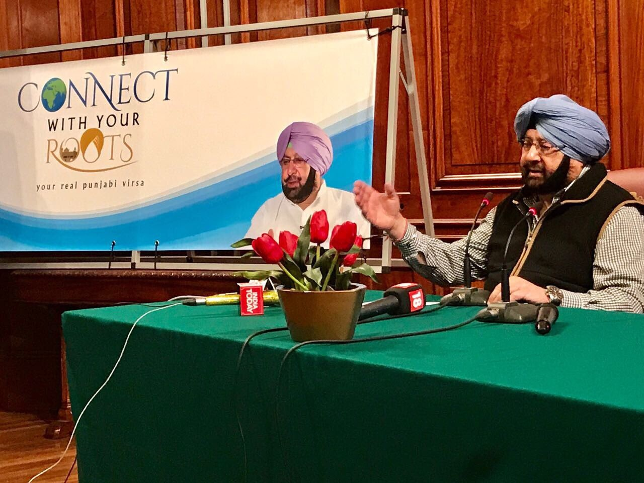 Punjab Chief Minister Captain Amarinder Singh announcing the 'Connect to your Roots' programme in London.