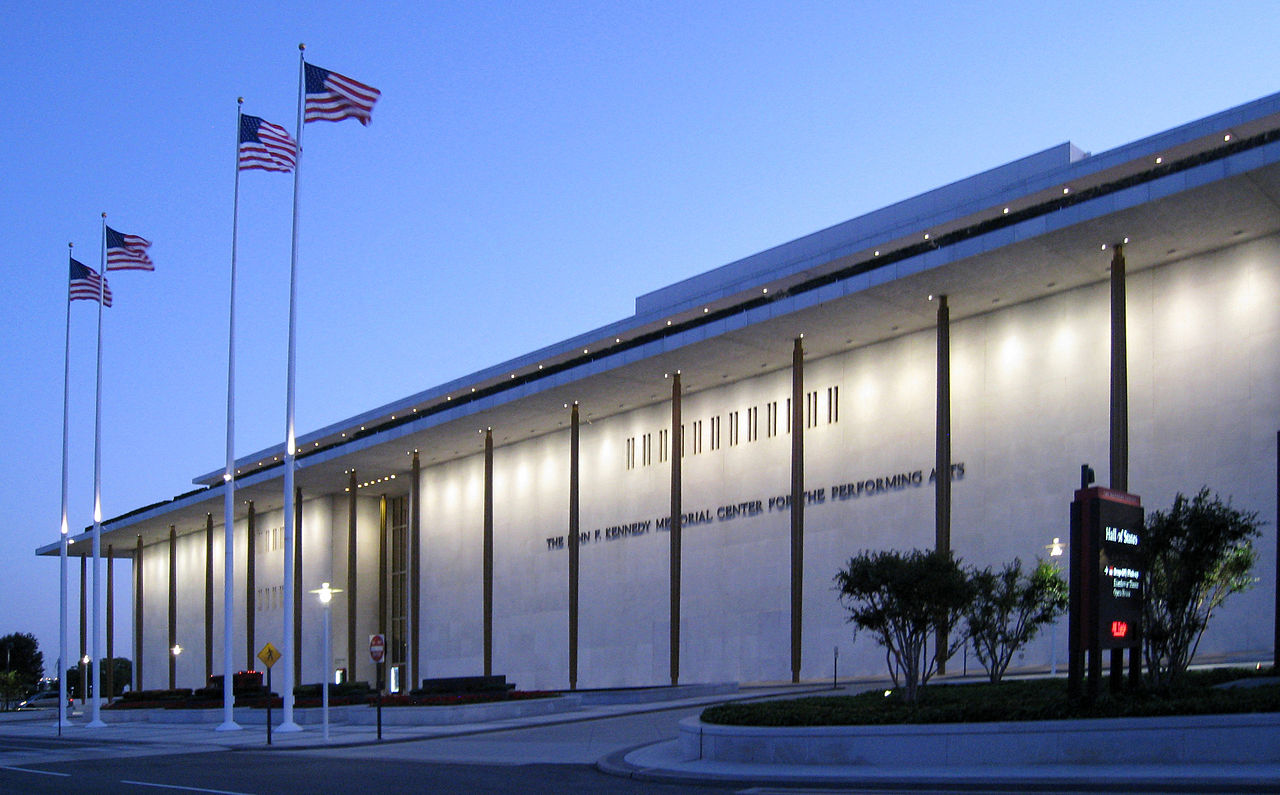 The John F Kennedy Memorial Center for the Performing Arts.