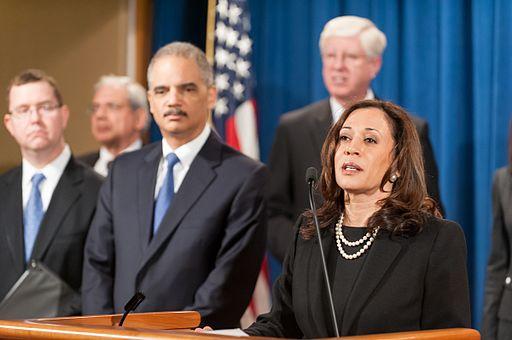 US Senator Kamala Harris.