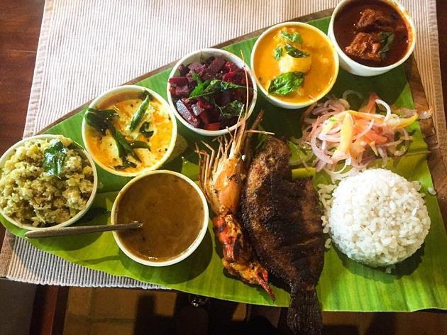 Cooked in coconut oil & starting with a serving of the sweet payasam, the thali is a perfectly balanced meal, with each and every dish reflecting the heritage and culture of the land