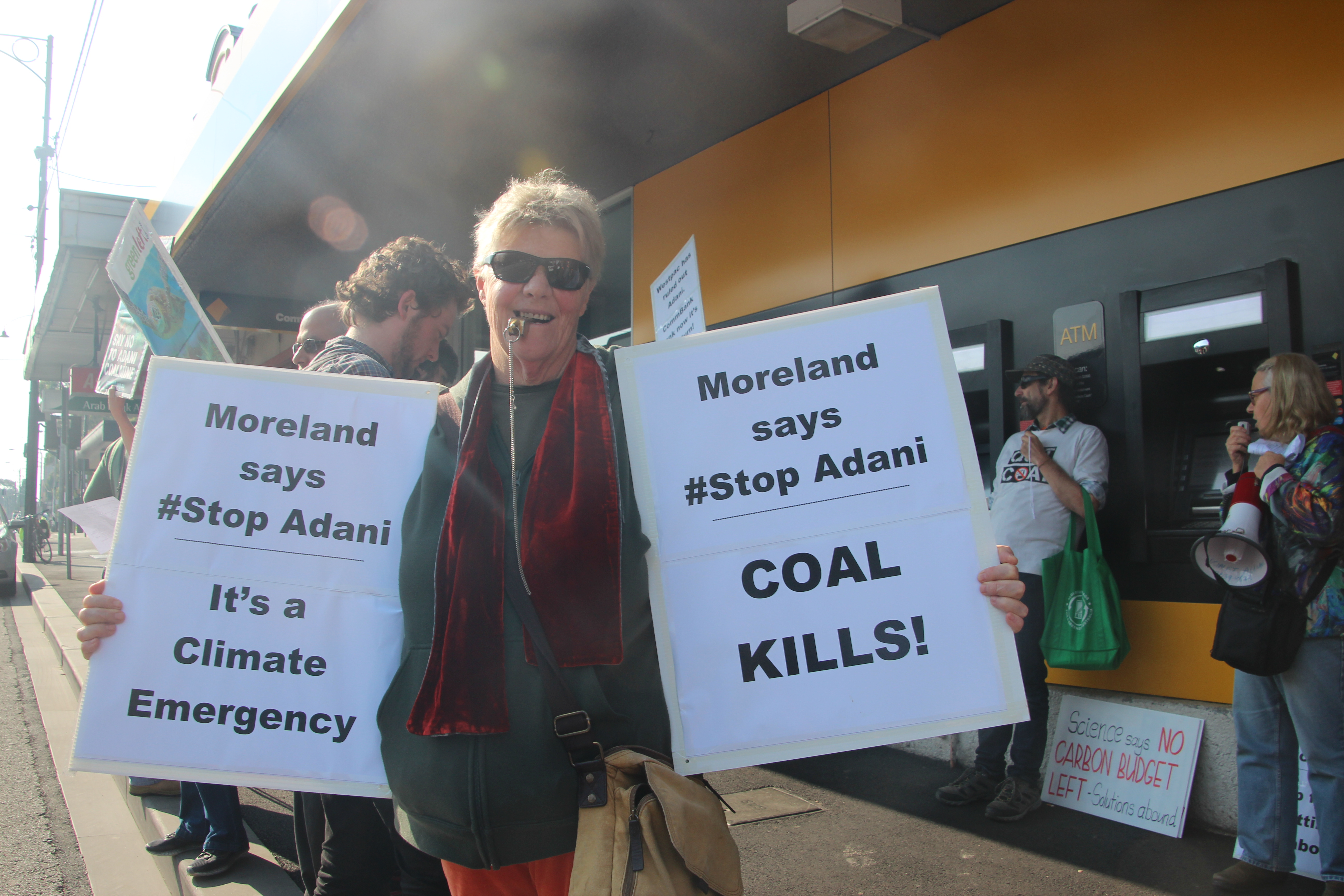 Environmental activists protesting against the coal mines and Adani.