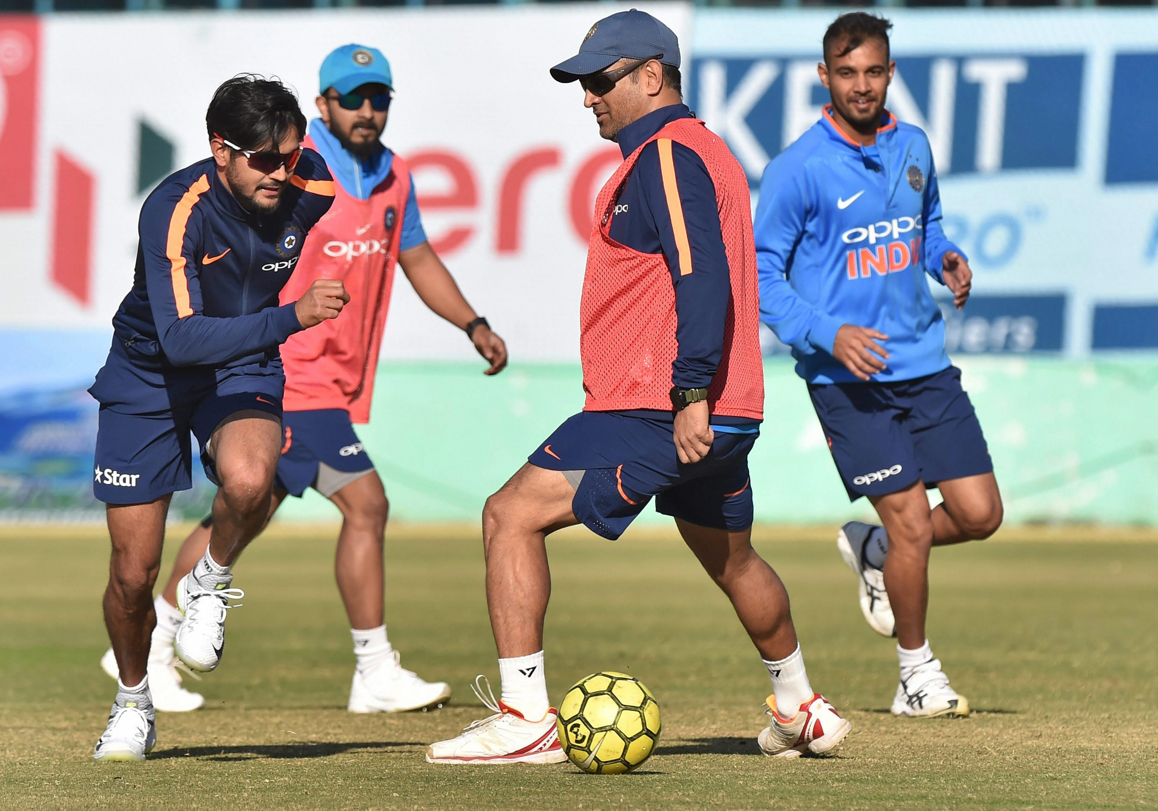 The aim of the MS Dhoni Cricket Academy is to make cricket a truly global sport. Photo courtesy: PTI