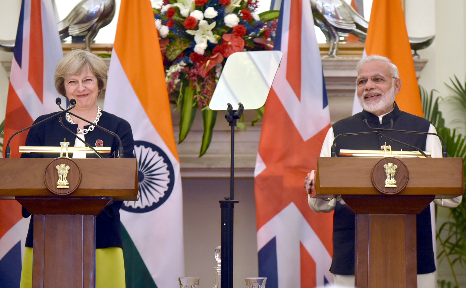 British Prime Minister Theresa May had insisted on 'taking back' Indian students illegally staying in UK during her visit to India (Photo: Press Information Bureau)