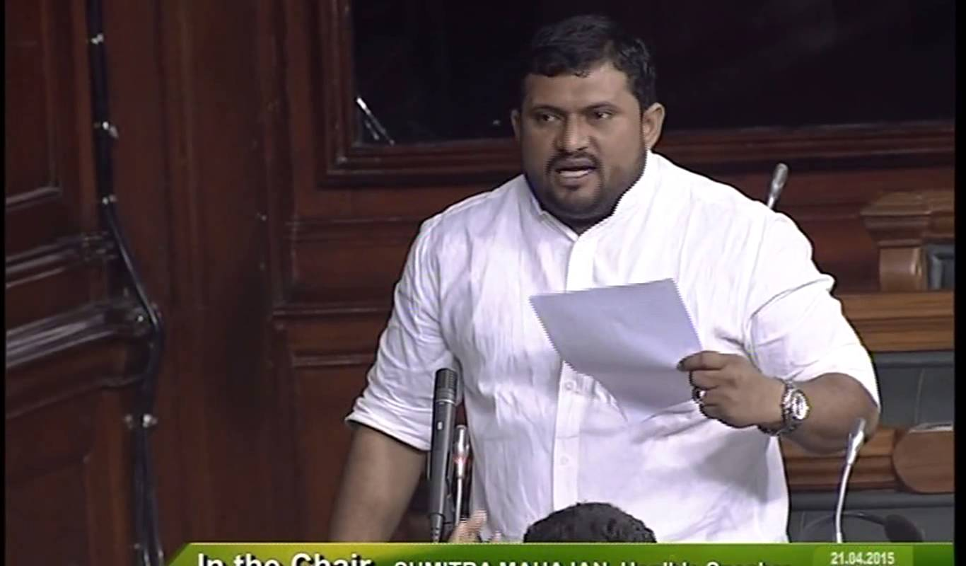 P P Mohammed Faizal a Nationalist Congress Party(NCP) Member of Parliament from Lakshadweep. Photo courtesy: Lok Sabha TV