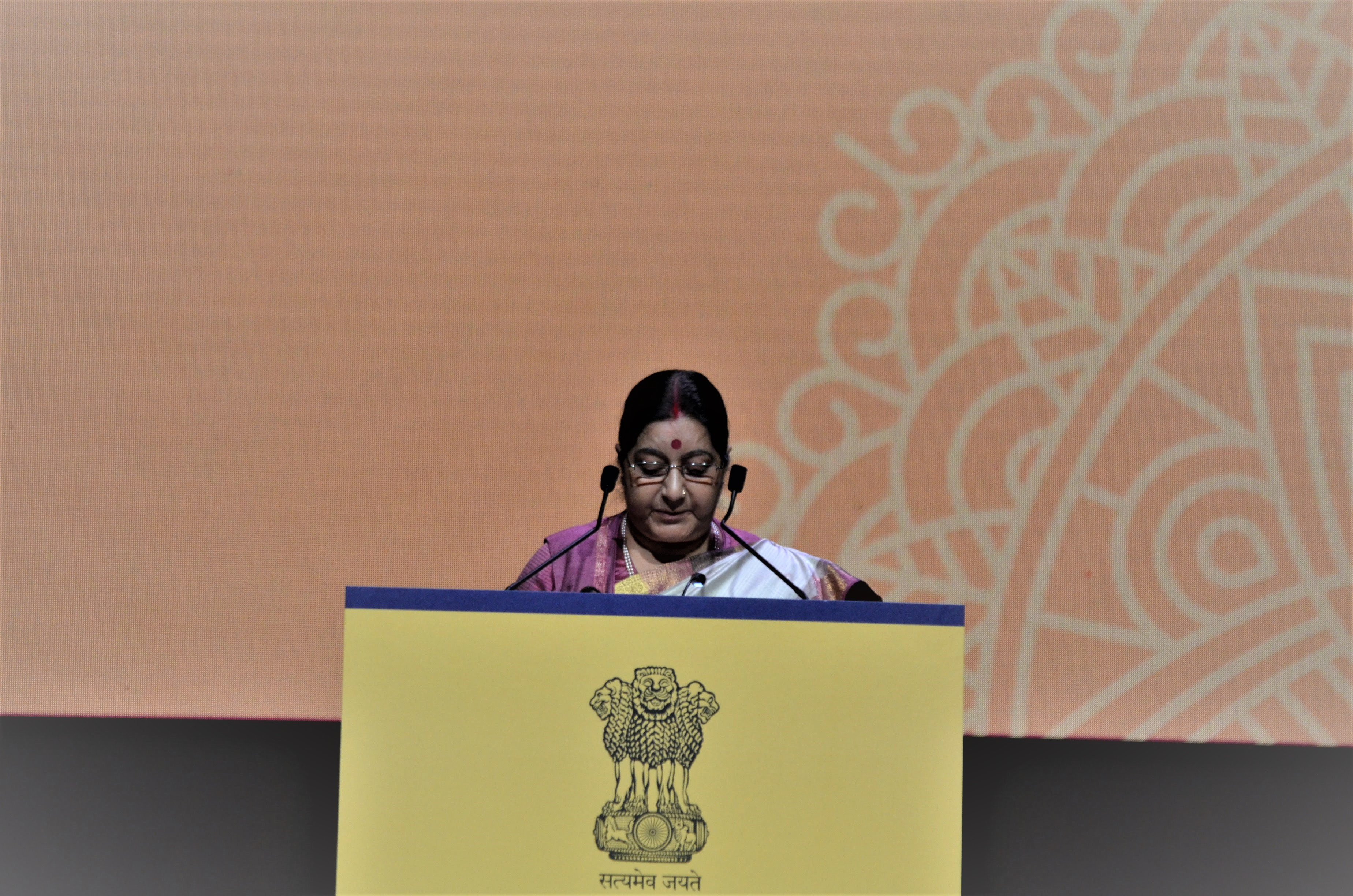 Indian Minister of External Affairs Sushma Swaraj while delivering her speech said the year 2018 was the 'Year of Milestones' for India and ASEAN marching on the path of growth and partnership.