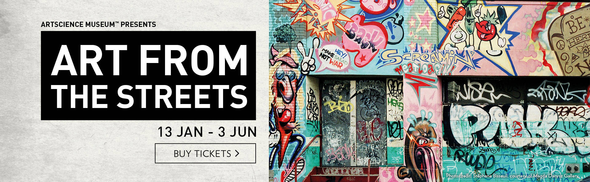 World's most iconic street artists present their provocative works for the first time in Southeast Asia.