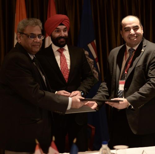Indian-origin Canadian Minister Navdeep Bains attends CII Tech Summit in Delhi