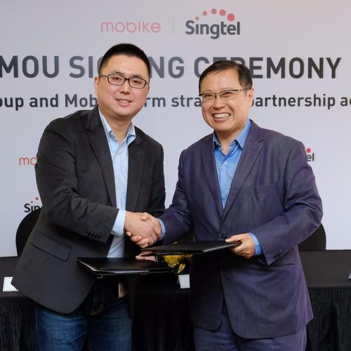 Singtel teams up with bike-sharing firm Mobike for easier payment options, analytics, IoT