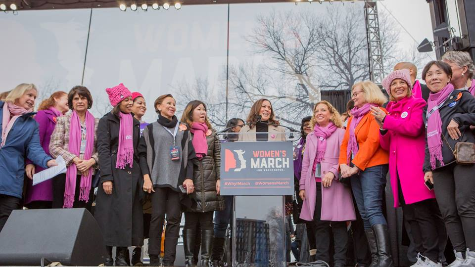 California Senate Kamala Harris during the Women's March in Washington.