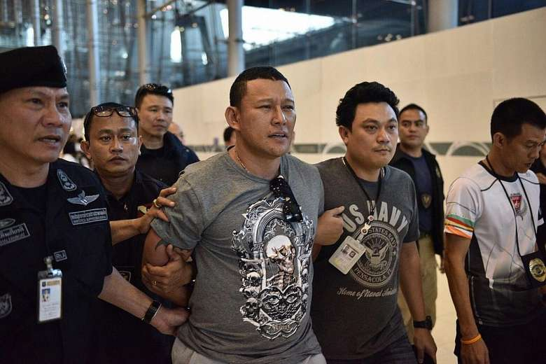 Drug kingpin arrested at Suyarnabhumi Airport at Bangkok.