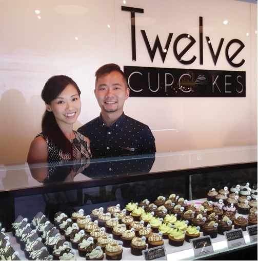 Twelve Cupcakes founders Jaime Teo and Daniel Ong
