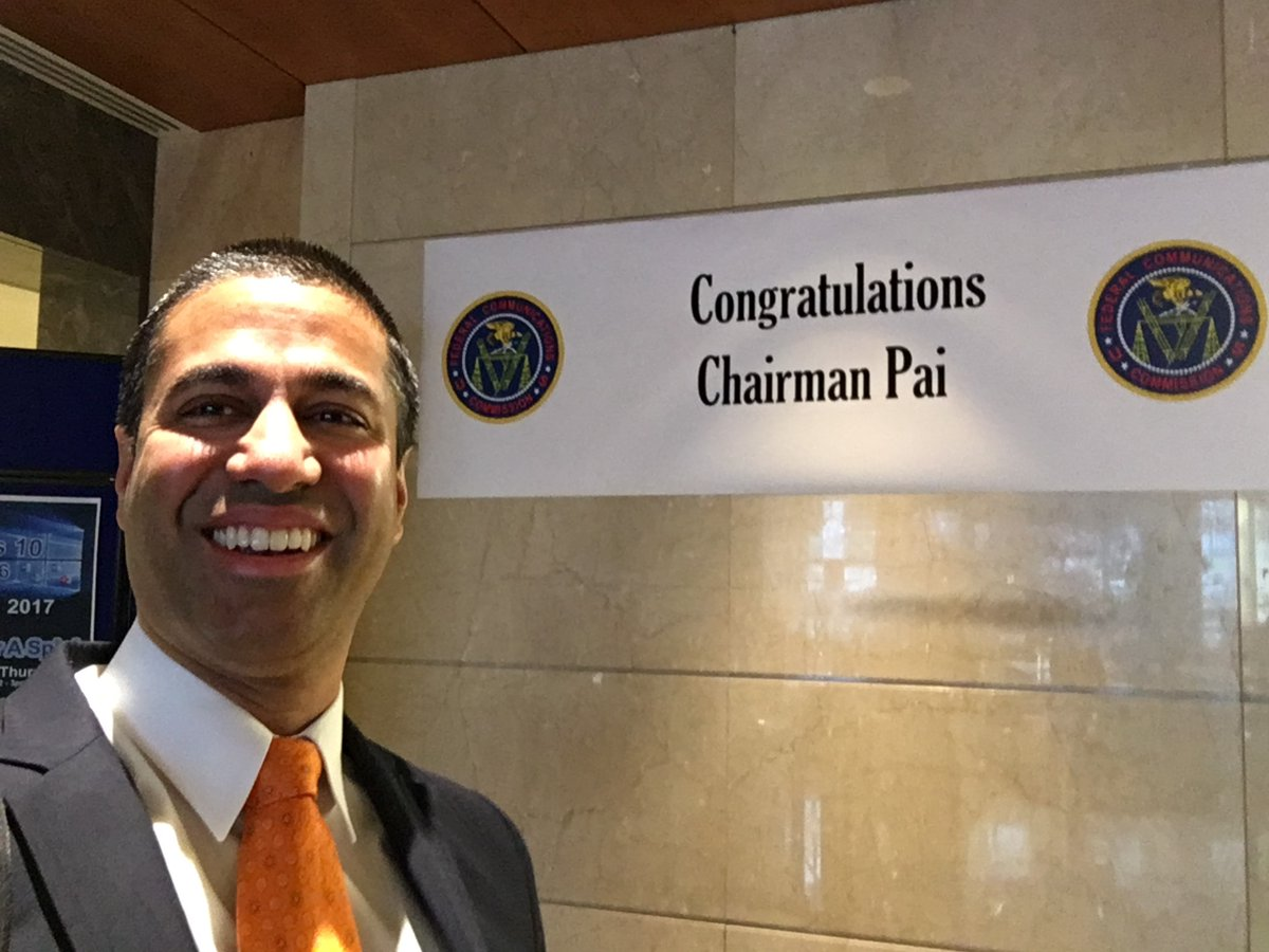 Ajit Pai - 34th Chairman of the Federal Communications Commission