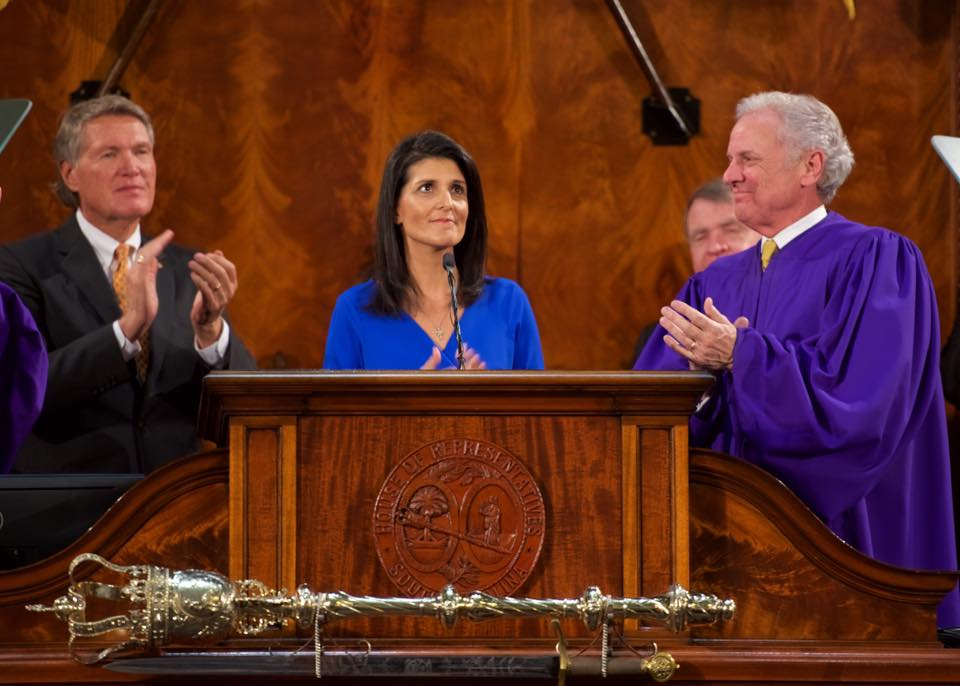 Nikki Haley confirmed as the next Ambassador to the UN by the US Senate.