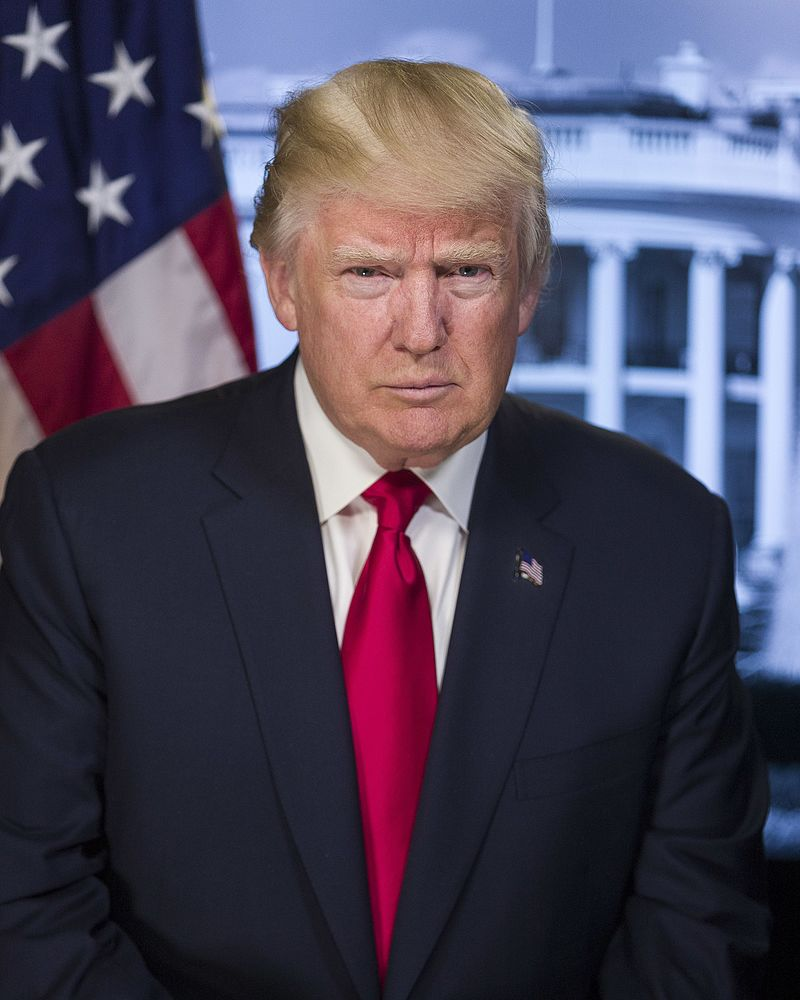The US President Donald Trump