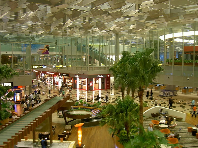 Interior view of Changi airport