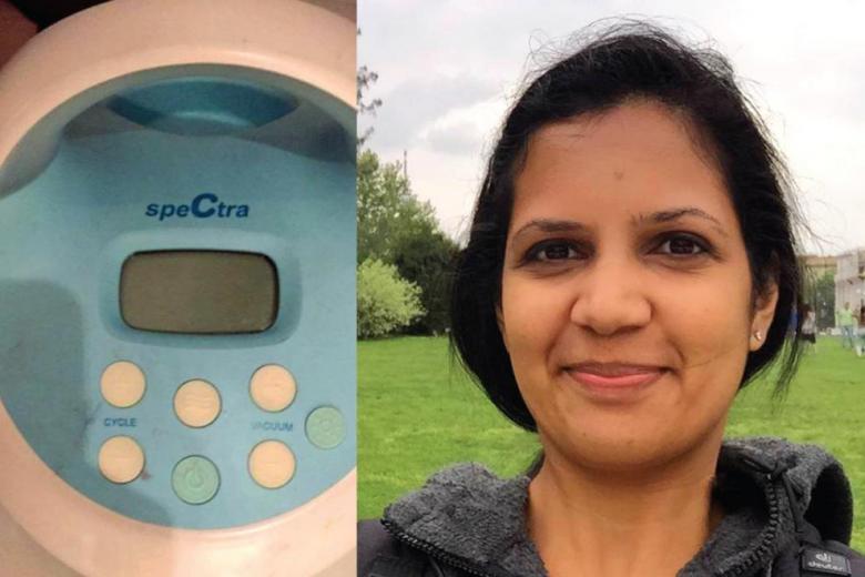 Breast pump and Gayathri Bose who was humiliated at the Frankfurt airport