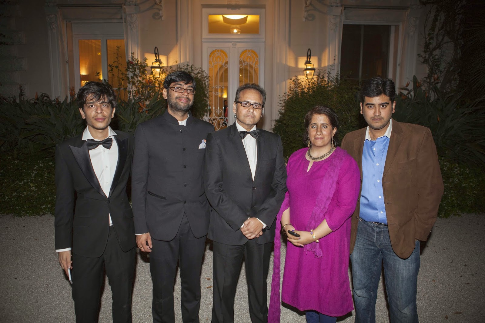 Avtar Panesar in the centre with the team of Hindi movie - Titli Photo courtesy: YRF Blog