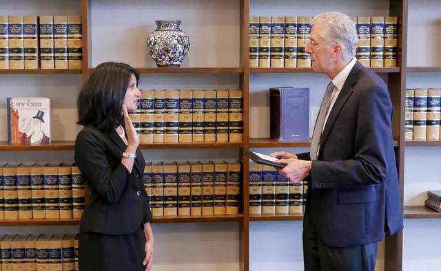 Mesiwala was sworn in by Sacramento Superior Court Presiding Judge Kevin Culhane