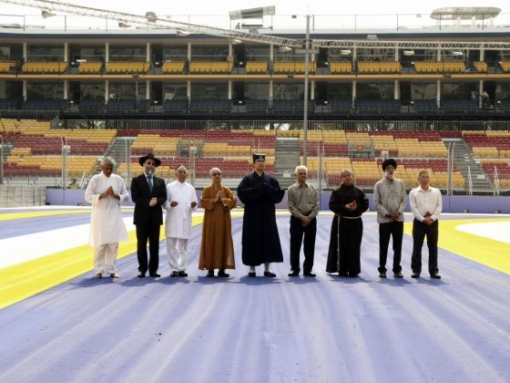 Multi-religious leaders conduct track blessing for F1 Singapore Grand Prix
