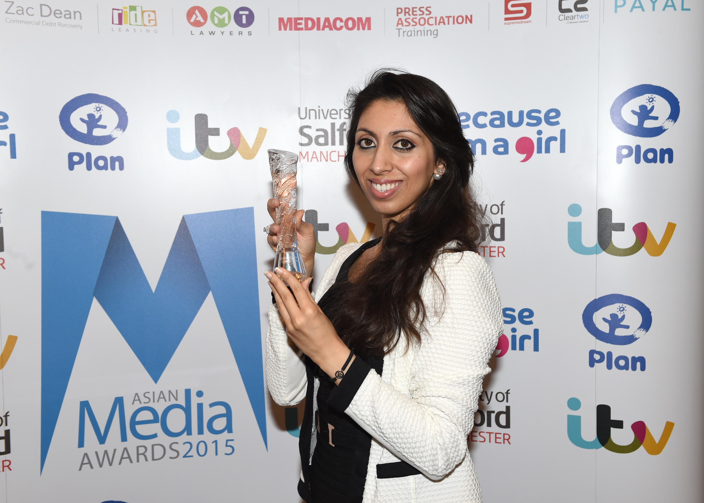 Natasha Mudhar at the Asian Media Awards.