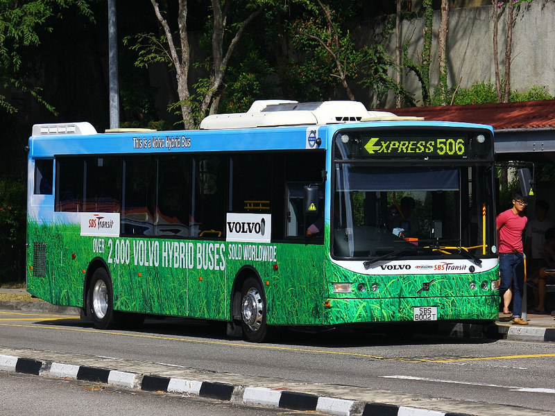 Hybrid bus in Singapore