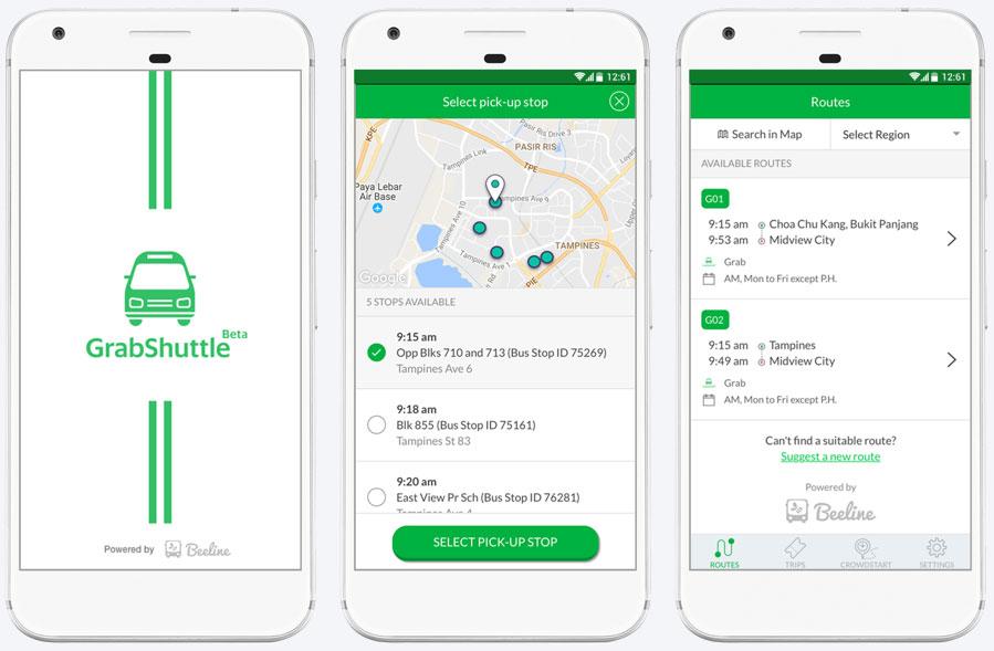 GrabShuttle mobile app,govtech,connectedtoindia,grab