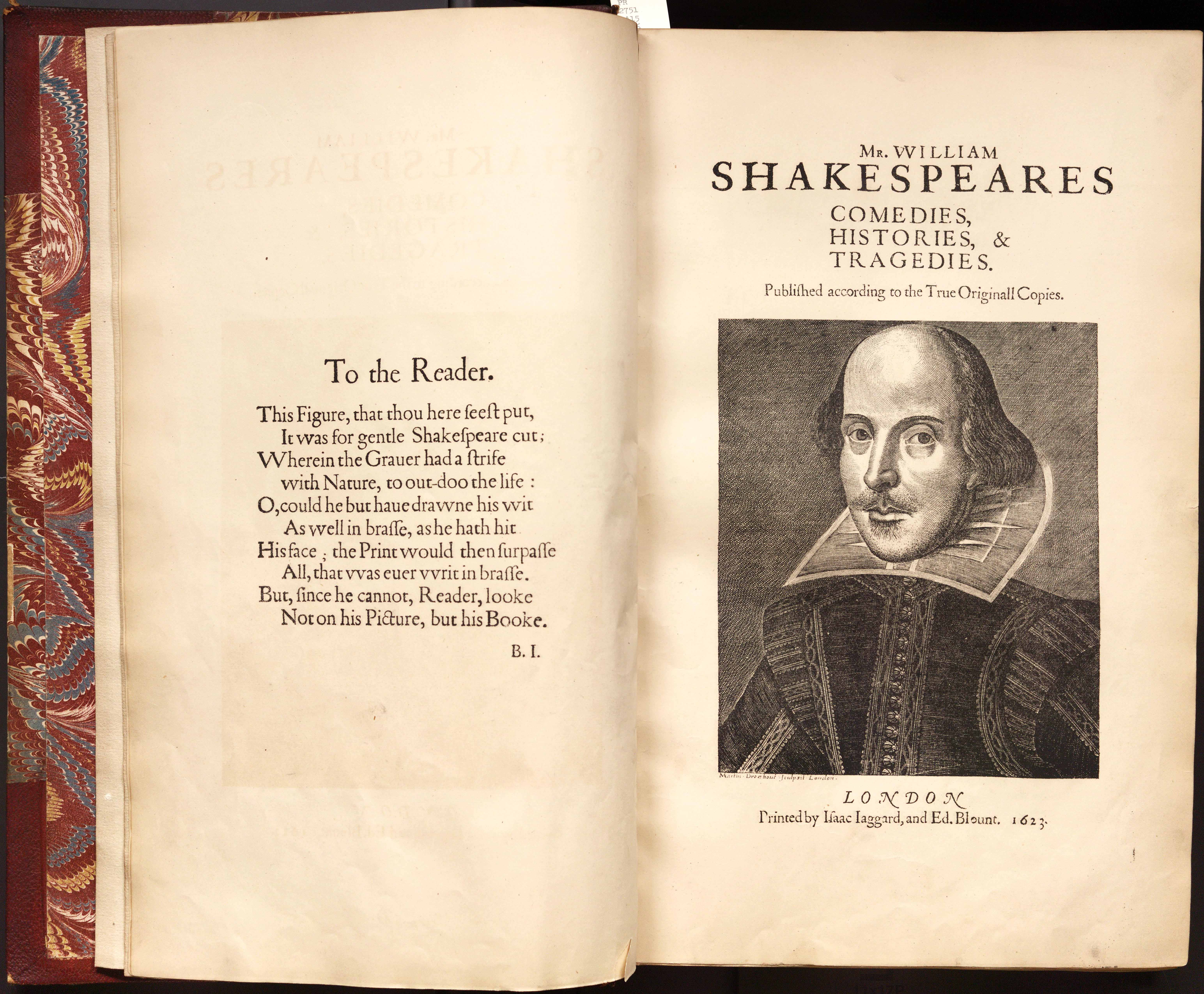 William Shakespeare's first anthology of plays- First Folio,being showcased at the National Library.