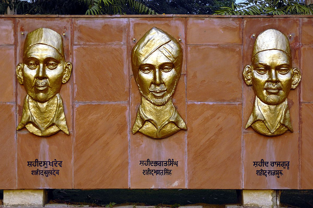 National Martyrs Memorial is the place at Hussainwala where Sukhdev Thapar, Bhagat Singh and Rajguru were cremated.