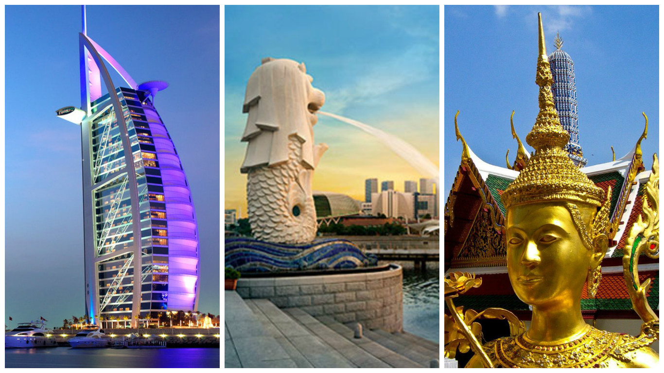 Bangkok, Dubai and Singapore top destinations for Indian travellers