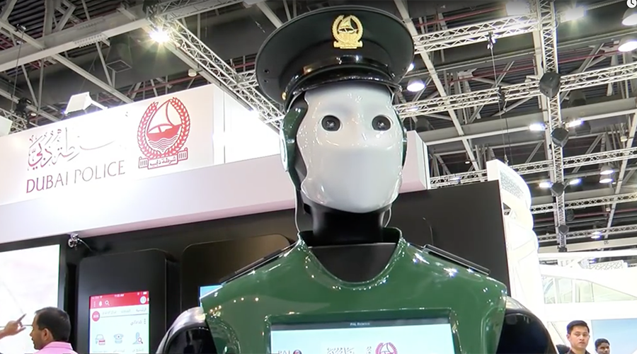 Robot cops  will make up a quarter of the Dubai police force by 2030.