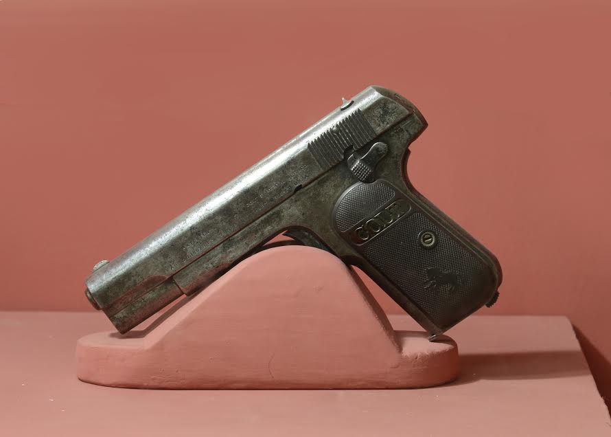 The pistol used by Chandra Shekhar Azad to shoot himself rather than surrendering to the British police kept at Allahabad Museum.
